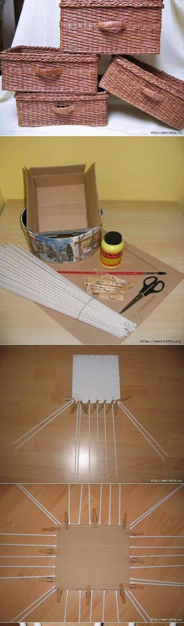 Плетение из газет для начинающих
