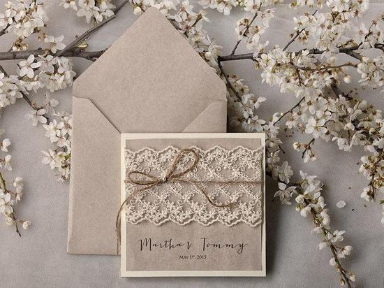 Свадьба в стиле шебби шик - Приглашения