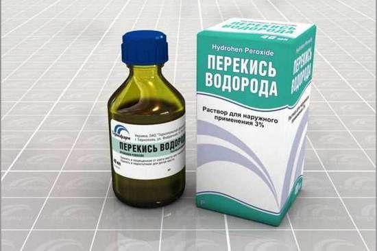 Лечение горла перекисью водорода