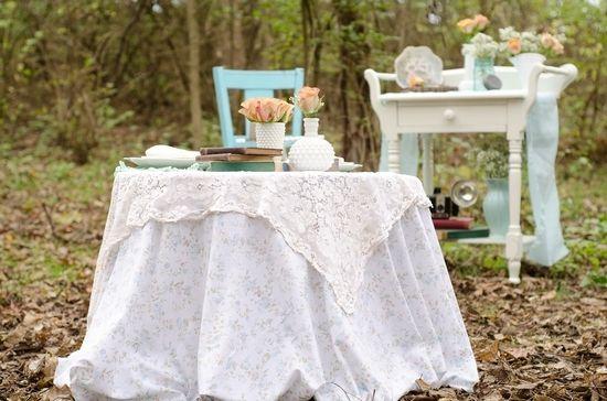 Свадьба в стиле шебби шик - цветовая гамма