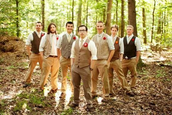 Свадьба в стиле шебби шик - костюм