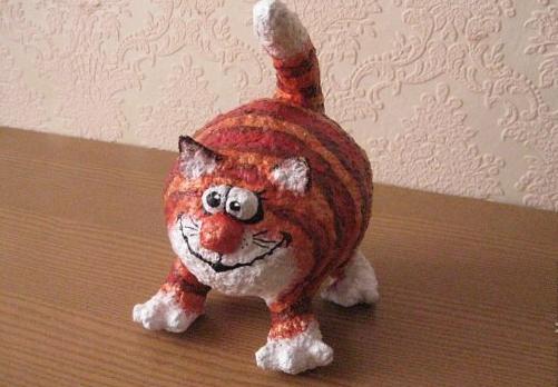 Кот из папье маше