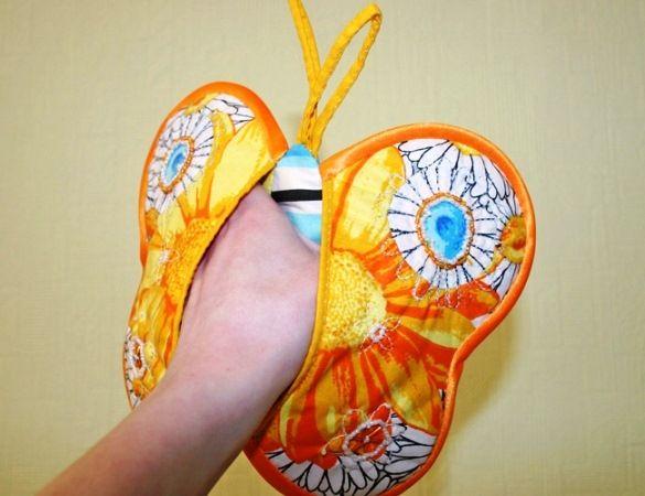 Как сшить прихватку в виде бабочки?
