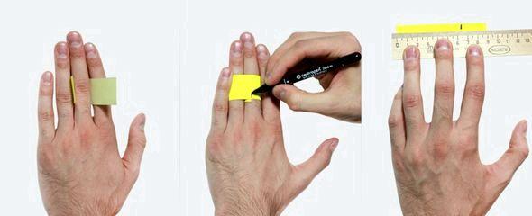 Как в домашних условиях узнать размер пальца для кольца Если ширина