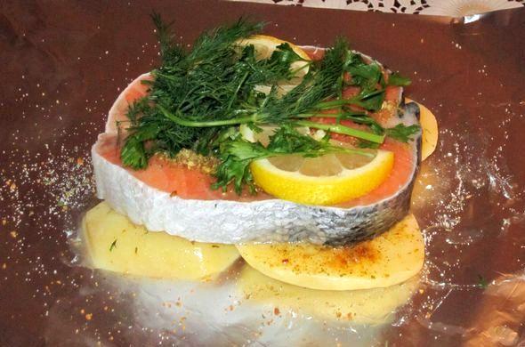 Красная рыба в духовке рецепты с фото запекаться иным способом, для