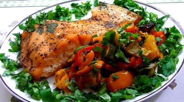 Красная рыба в духовке рецепты с фото карман из