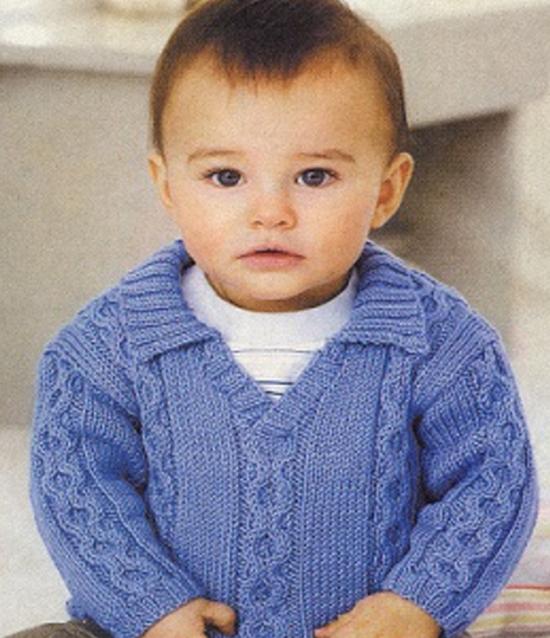 Джемпер для мальчика спицами (на возраст 3 года)