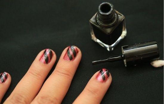 Маникюр со стразами на короткие ногти пошагово