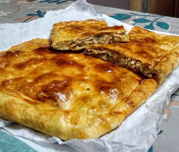 Пирог с картошкой и курицей в духовке даём 30 минут