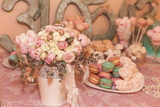 Свадьба в стиле шебби шик - оформление зала