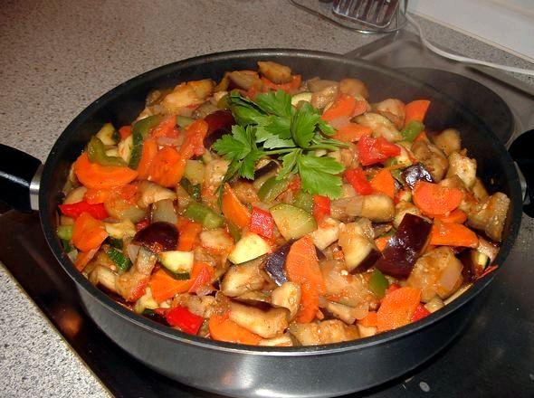 Рагу из кабачков и баклажанов рецепт с фото болгарский сладкий, помидоры