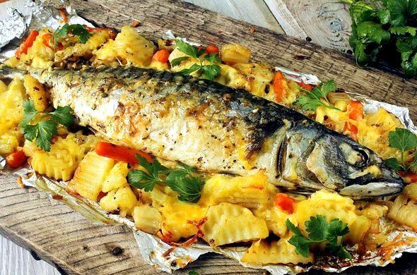 Рыба с овощами в духовке рецепты с фото духовке впитает
