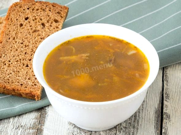 суп с замороженными опятами рецепт