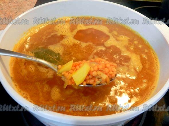 Суп с чечевицей и картофелем рецепт с мясом можно использовать несколько щепоток сухой