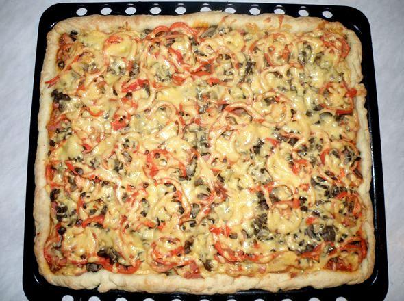 Тесто для пиццы рецепт пошагово с фото специальная большая