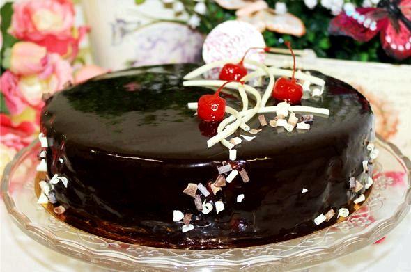Торт пьяная вишня пошаговый рецепт с фото Взбиваем на средней