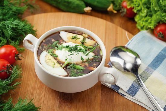 энергетическую ценность летнего охлажденного супа