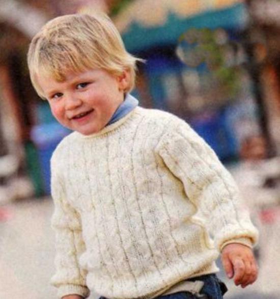 Джемпер для мальчика спицами (на возраст 2 года)