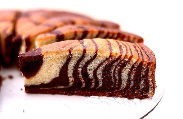 Зебра пирог на кефире рецепт с фото итоге тесто растечется по